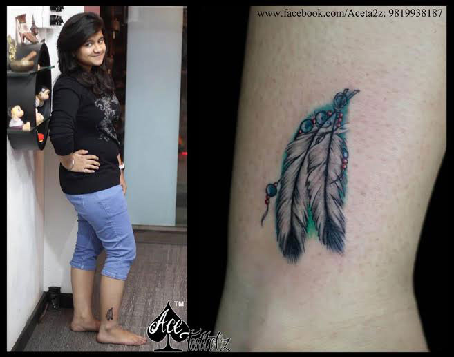 DREAMCATHER WITH UNIQUE FEATHER TATTOOS