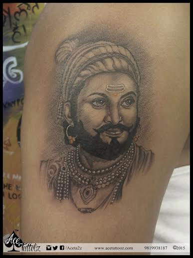 Arm Tattoo - Shivaji Tattoo Design