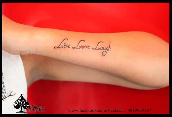 Live Love and Laugh Tattoo