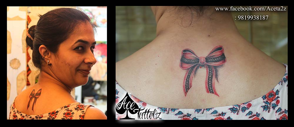 3D BOW RIBBON TATTOO