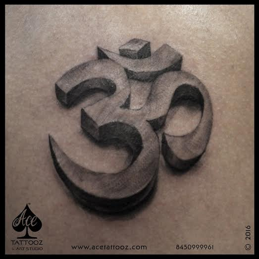 3D OM God Tattoo Designs