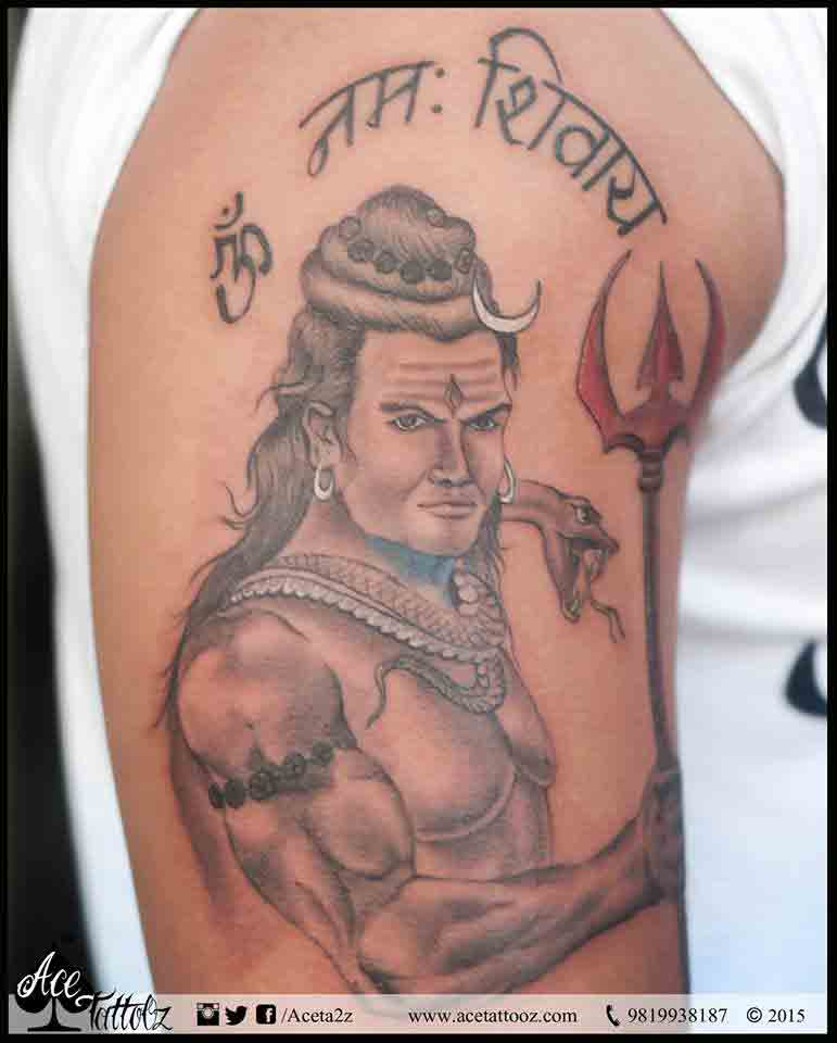 Customised Lord Shiva Tattoo