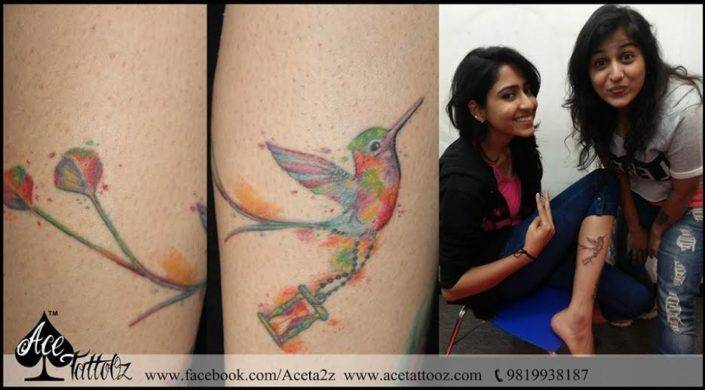 Paradise bird Leg Tattoo Designs