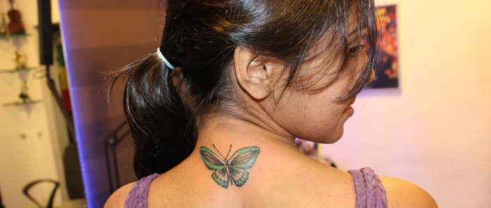 Floral Butterfly Tattoo Designs for Women