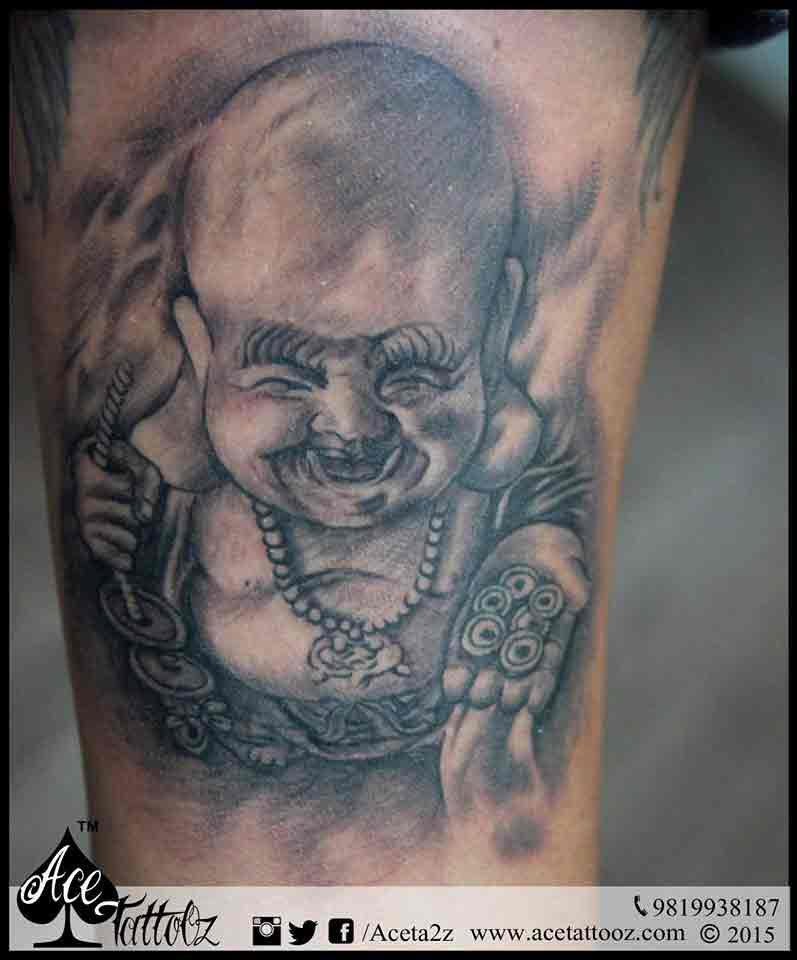 Laughing Buddha Tattoo - Ace Tattooz | Best Tattoo Studio ...