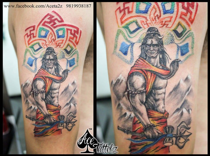 Mandala Lord Shiva Tattoos on Hand