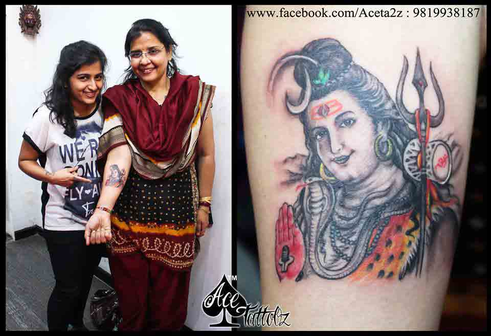 Lord Shiva Tattoos on Hand