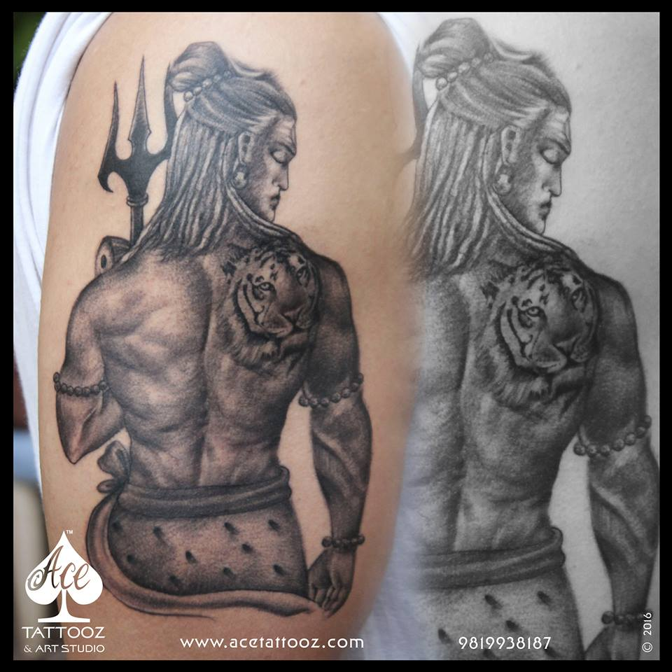 top 12 best lord shiva tattoo designs ace tattooz. Black Bedroom Furniture Sets. Home Design Ideas