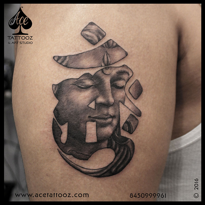 OM with Lord Shiva Tattoos