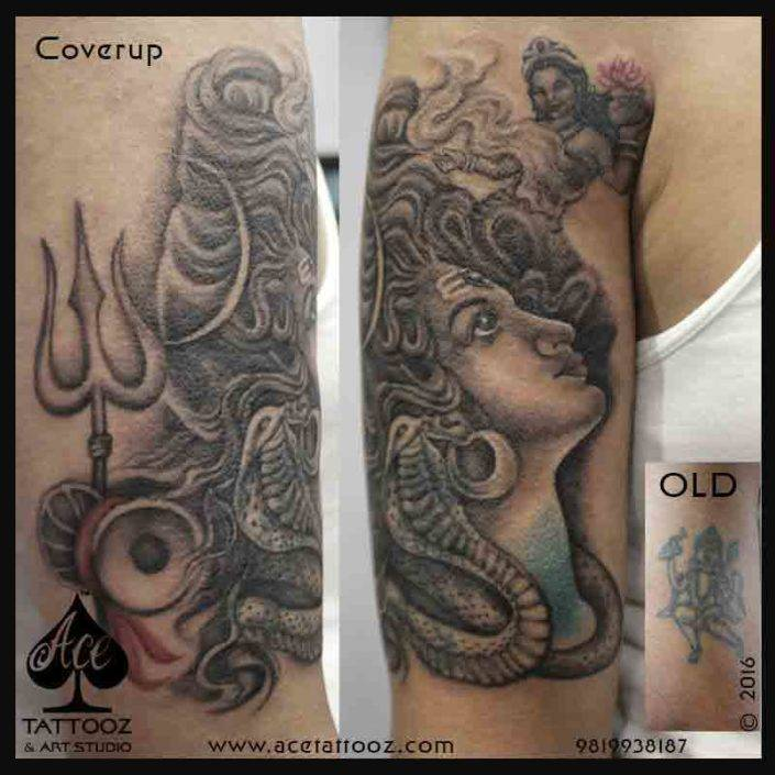 Side Face Lord Shiva Tattoos