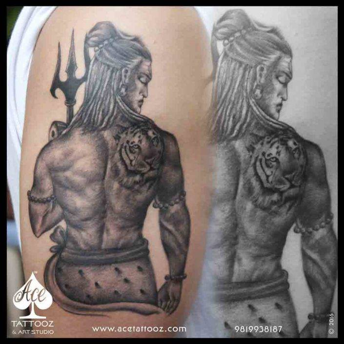lord shiva tattoos ace tattooz art studio mumbai india. Black Bedroom Furniture Sets. Home Design Ideas