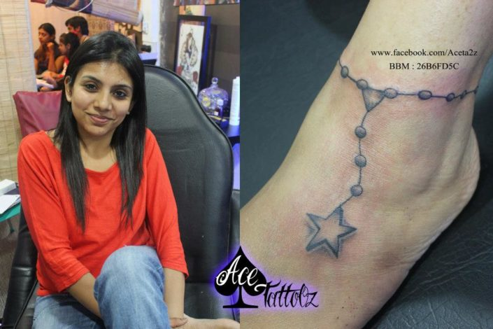 Star Anklet Unique Ankle Tattoo Designs for Women