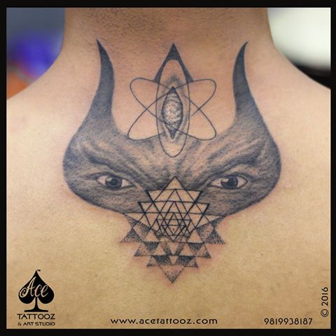 Shiva Tattoo With Third Eye
