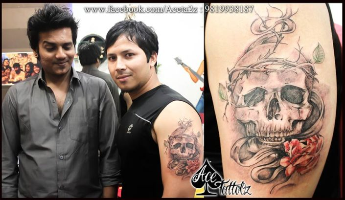 Skull Tattoos Designs for Men on Arm