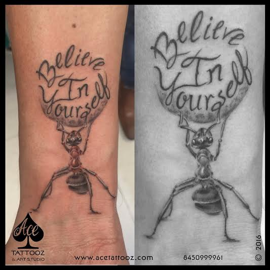 """TATTOO LETTERING """"ANT AND NAME DESIGN TATTOOS"""""""