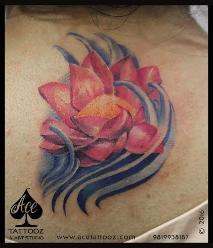 3D Rose Unique Flower Tattoo Designs for Women