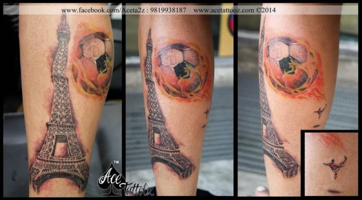 Best Leg Tattoo Designs Ever with Football