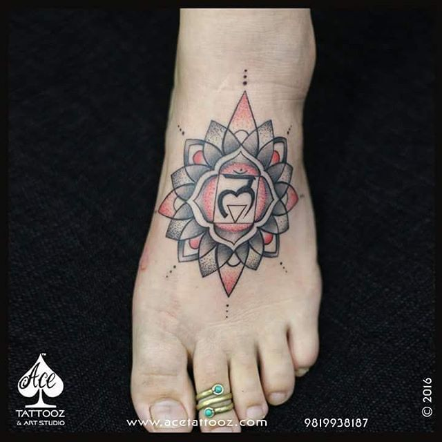 Best Leg Tattoo Designs Ever with Root Chakra
