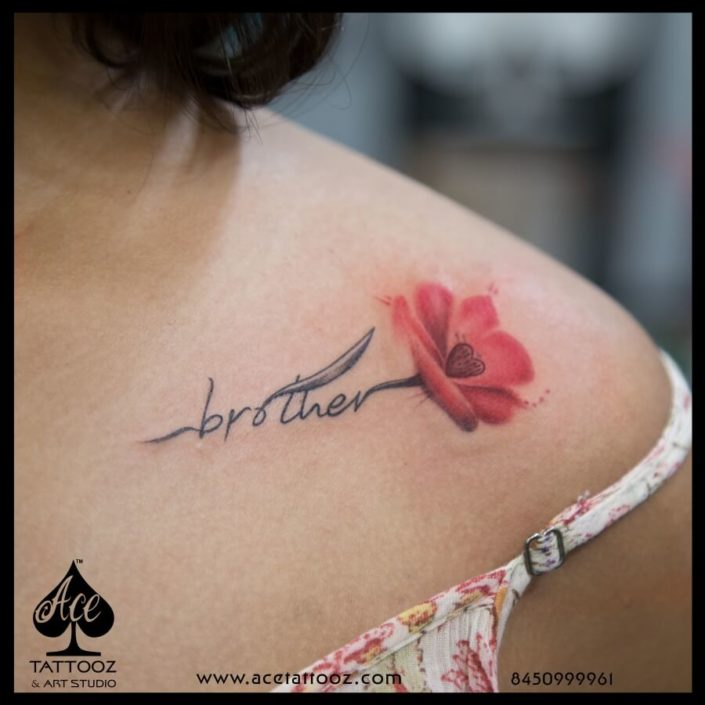 Name with Flower Tattoo