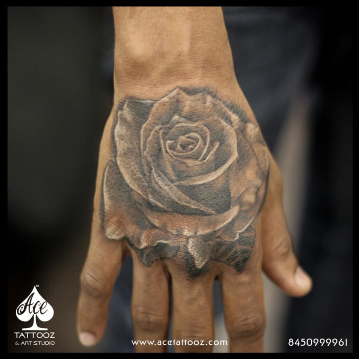 Rose Flower Unique Flower Tattoo Designs for Women