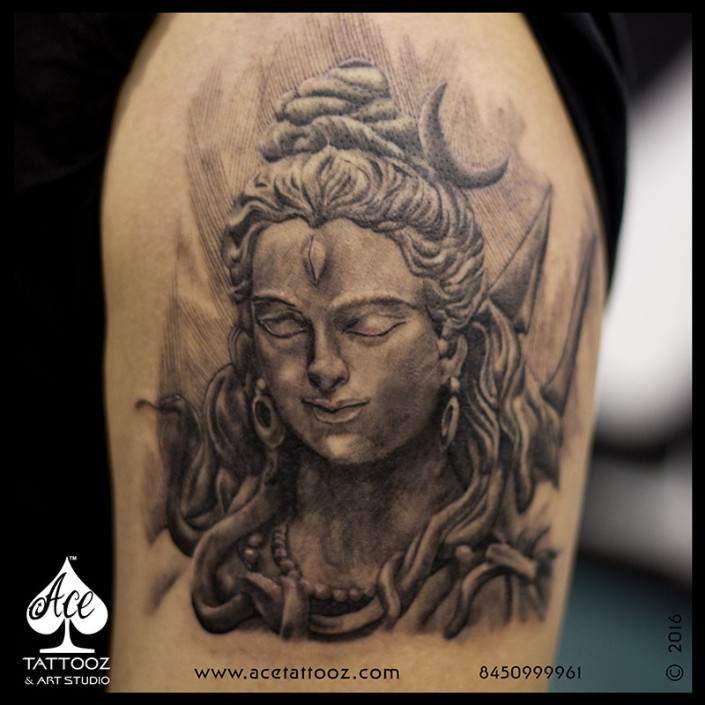 Shiva Sculpture Tattoo
