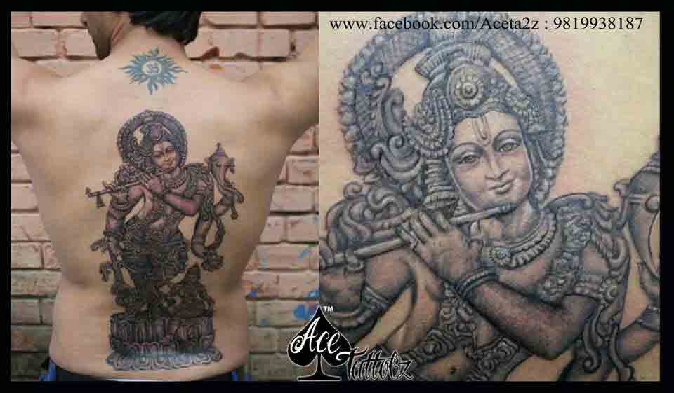 Religious God Lord Krishna Tattoo