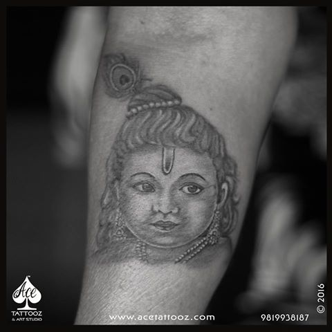 Lord Krishna Tattoo Designs on Arm
