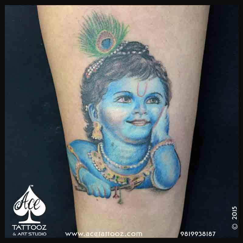 Lord Krishna God Tattoo Designs