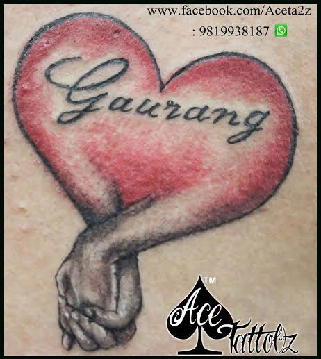 Heart With Typography Tattoo