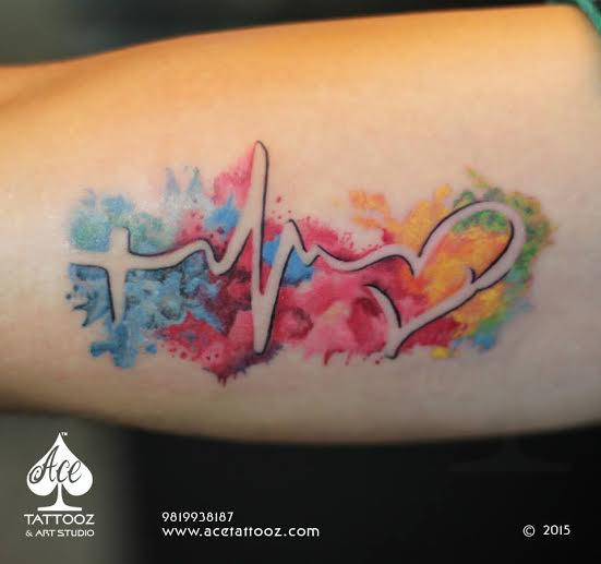 Color Tattoo of Heart