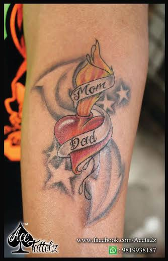 MOM AND TATTOOS DESIGN