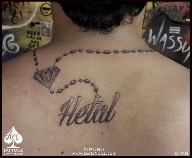 Back Tattoo Designs for Men with Name on Back