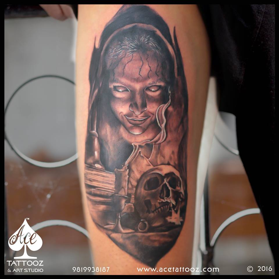 Black Grey Tattoo Designs at Pune Tattoo Festival