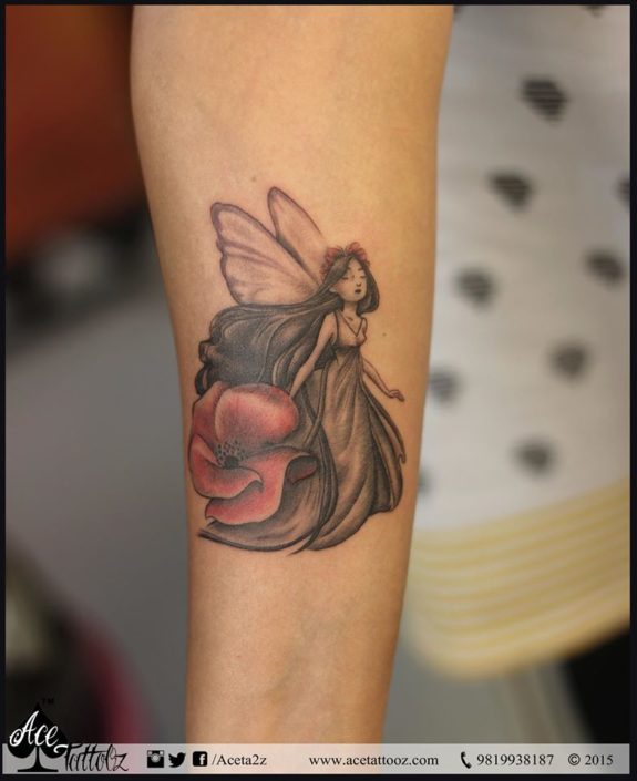Angel Butterfly Tattoo Designs for Women