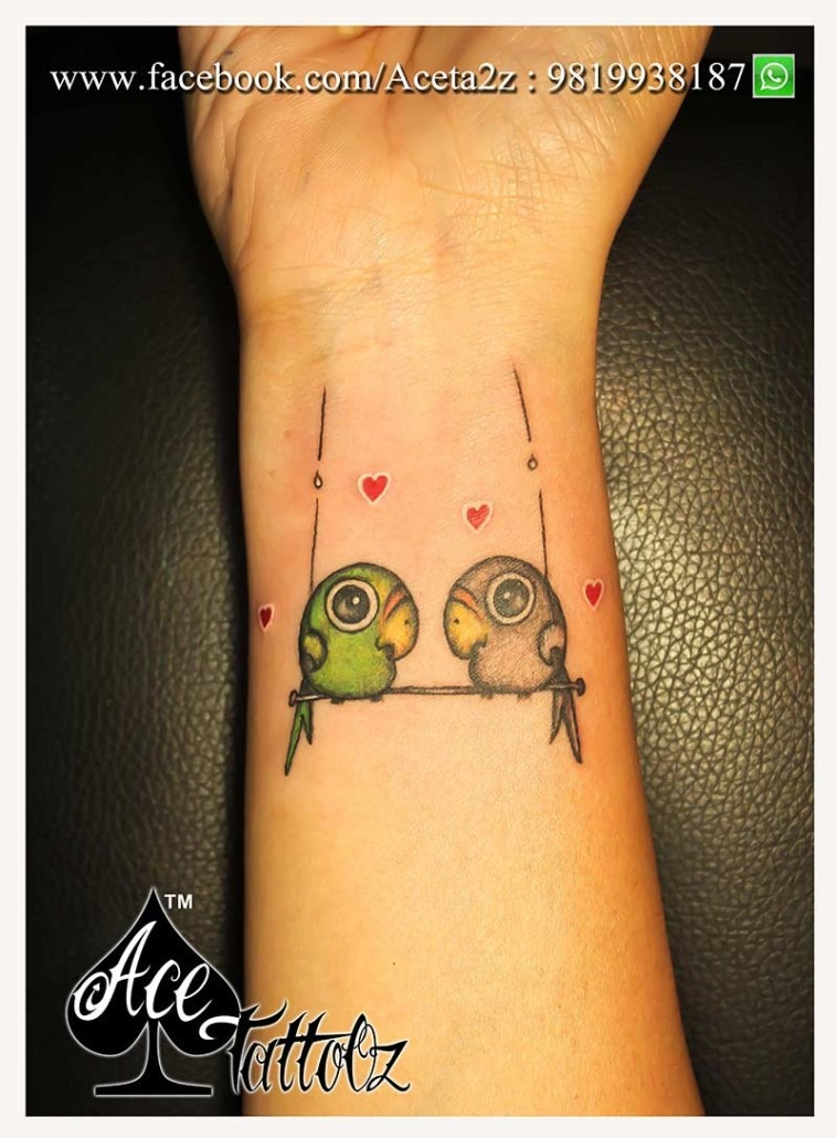 LOVE BIRDS TATTOO - Ace Tattooz