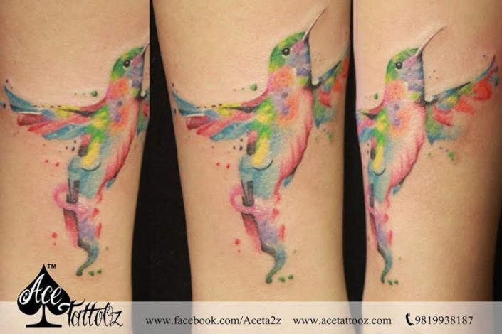 Abstract Bird Tattoo