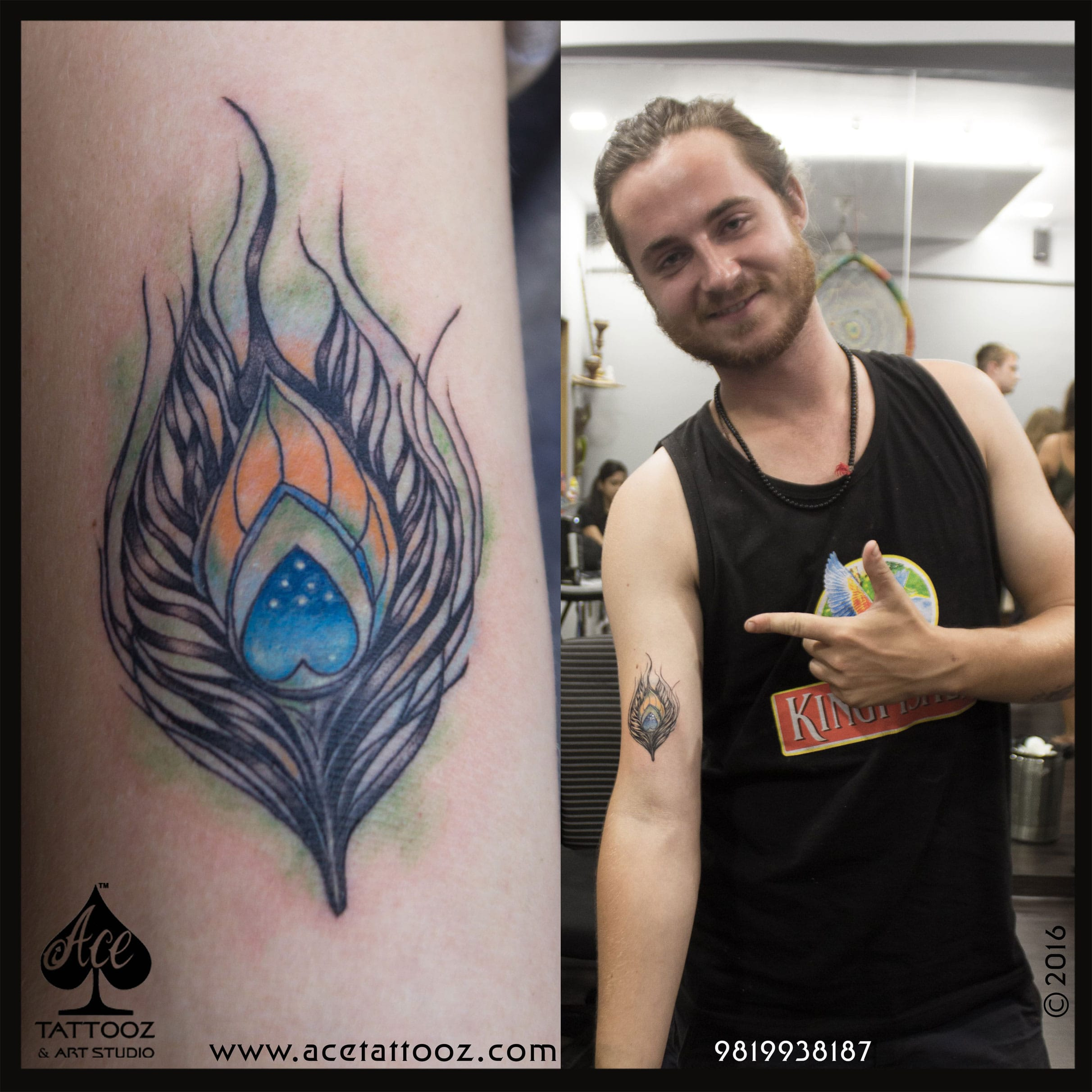 Best Color Tattoos with Peacock Feather