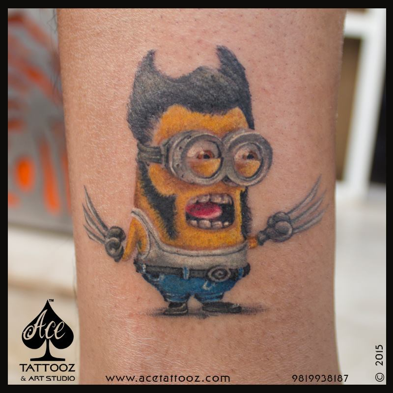 Best Leg Tattoo Designs Ever with Minion
