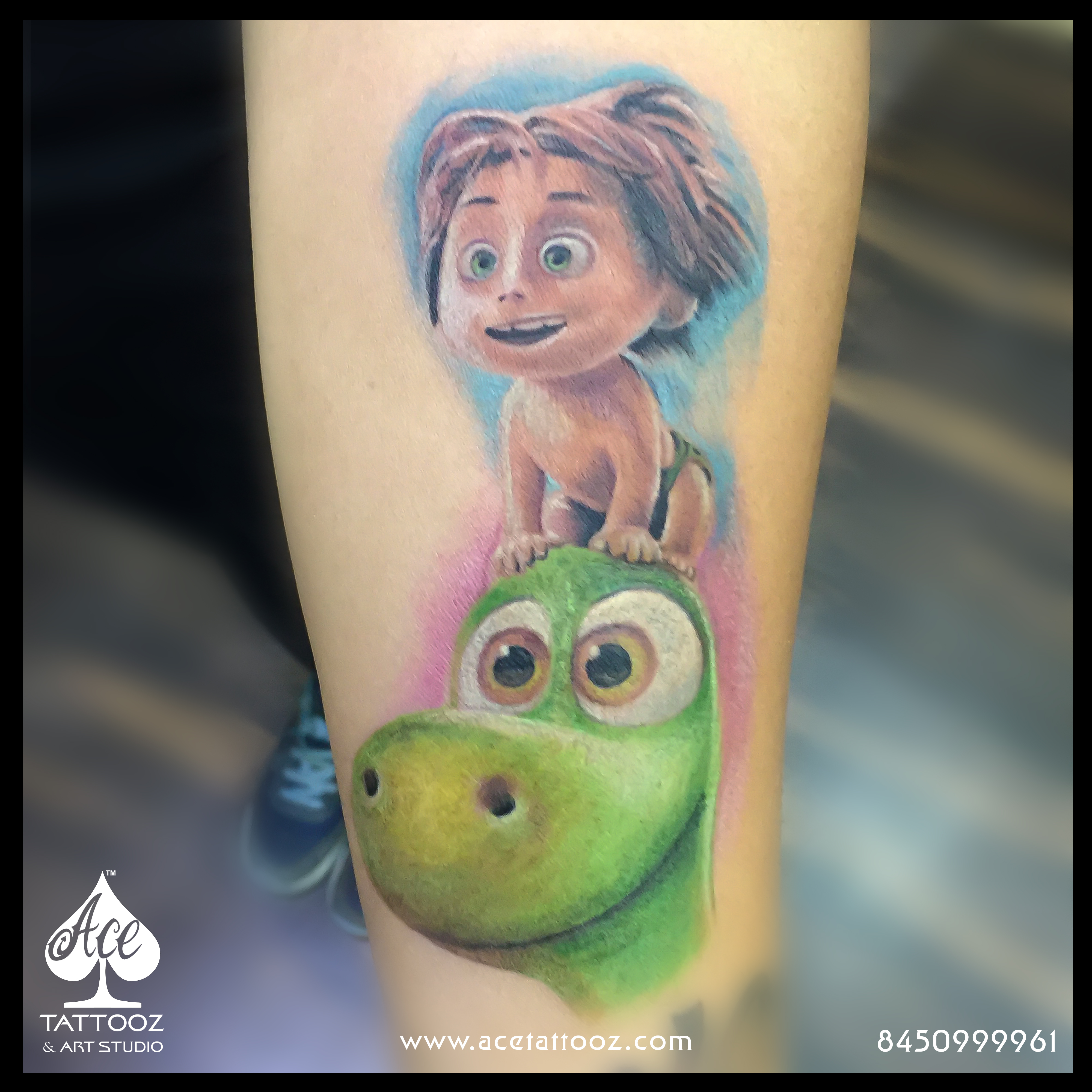 Arlo The Good Dinosaur Tattoo