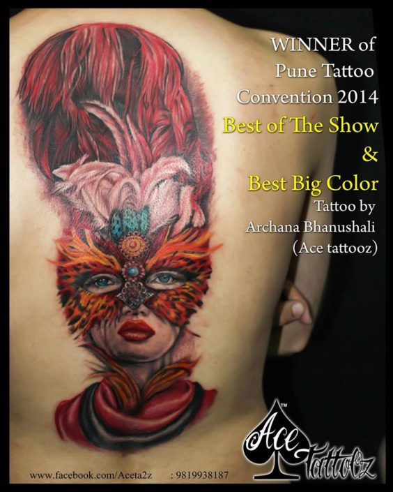 Awarded Big Colour Tattoo