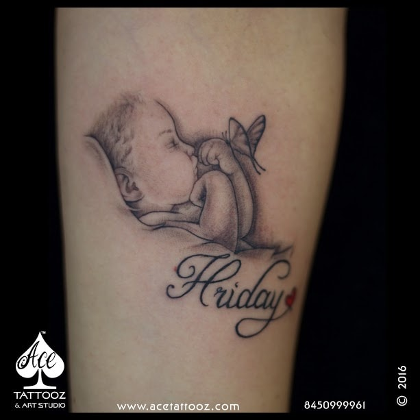 58ba97da9 Hriday Baby Black and Grey Tattoo Designs