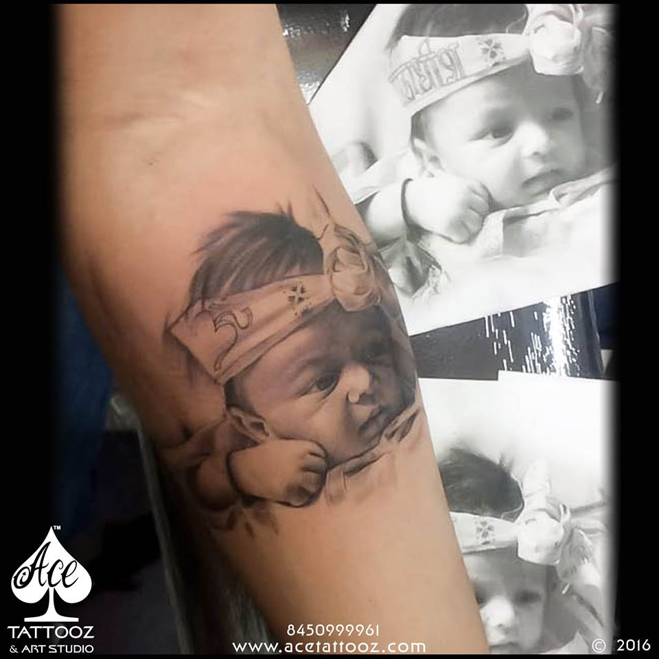 Baby Portrait Tattoo Designs