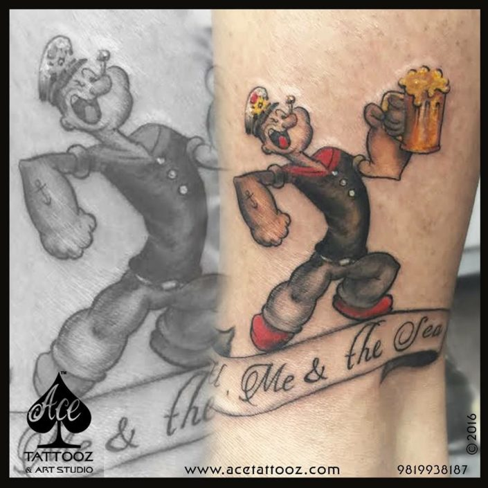 Best Color Tattoos with Popeye