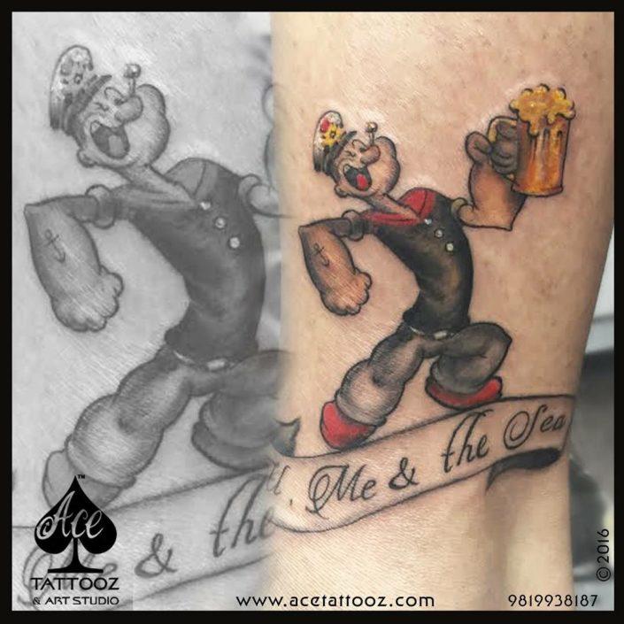 Popeye Navy Tattoo