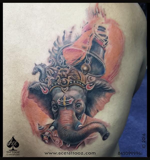 Realistic Lord Ganesh Tattoo at Heartwork tattoo art
