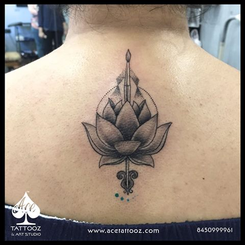 Customized Lotus Tattoo