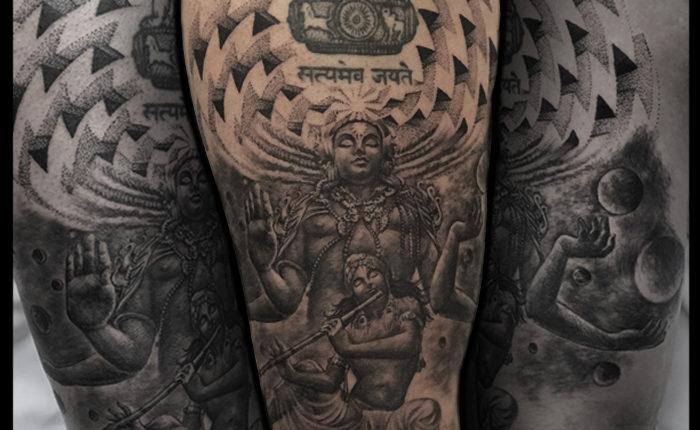 Lord Vishnu Avatar Tattoo