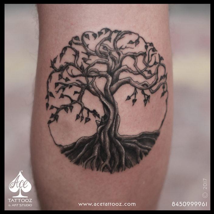 Tree of Life 3D Tattoo Designs on Hand