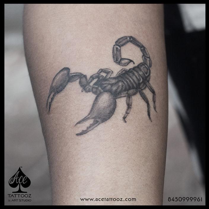 Scorpion 3D Tattoo Designs on Hand