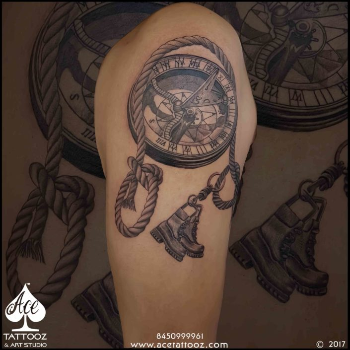 Compass Travelling Tattoo